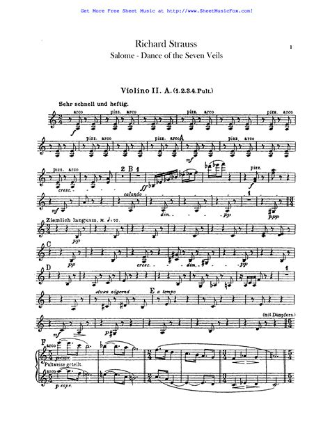 Free Sheet Music For Salome Op 54 Strauss Richard By