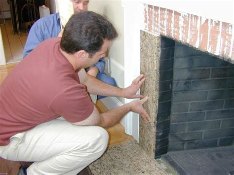 how to resurface a brick fireplace reface a fireplace with veneer how tos diy