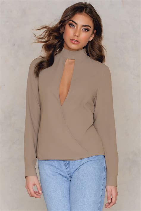 Muta55 Cut Out Blouse wrapped cut out blouse na kd