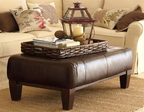 leather table ottoman 25 best ideas about ottoman coffee tables on