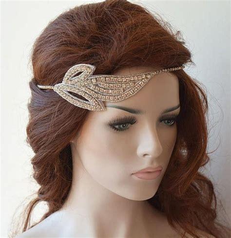 Hair Accessory Business by Rhinestones Leaf Headband Bridal Headband Wedding