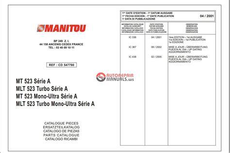 Manitou Mt Mlt 523 Serie A Parts Catalog Auto Repair