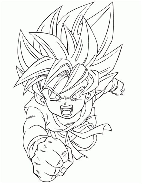 free online coloring pages of dragon ball z get this free dragon ball z coloring pages 58345