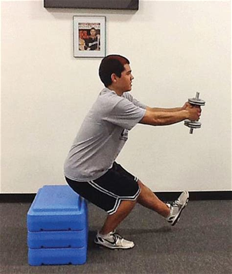 one leg squat on bench leg exercise single leg strengthening to improve