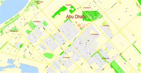 printable abu dhabi road map abu dhabi printable map united arab emirates exact