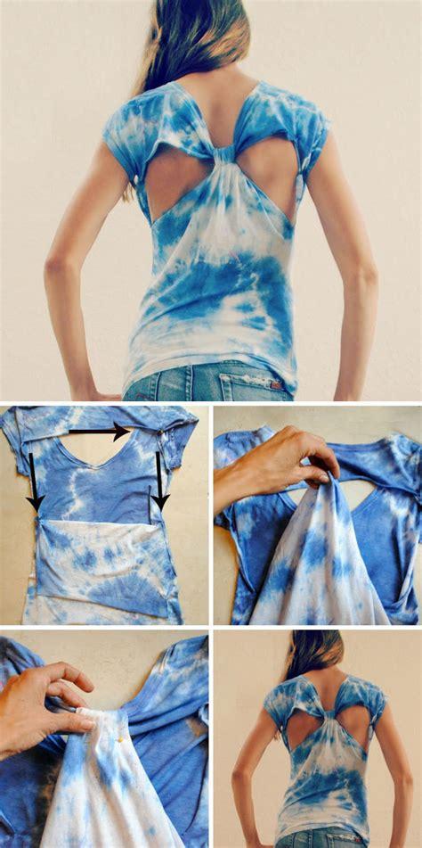 Easy T Shirt Diy Cut Out Back Maegan 40 Simple No Sew Diy Clothing Hacks Designs And Ideas Styles Weekly