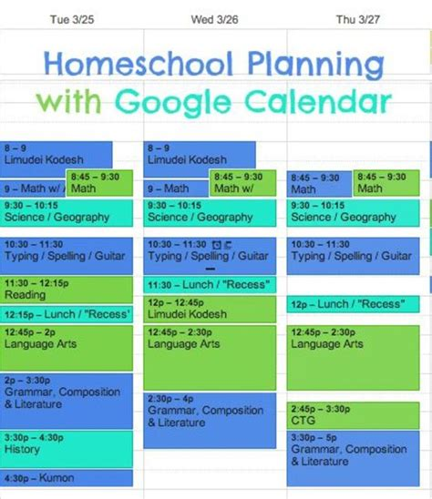 homeschool lesson plan template excel homeschool lesson plans made easy with google calendar