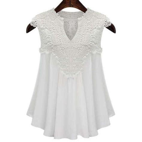 Blouse Chiffon white chiffon lace blouse silk blouses