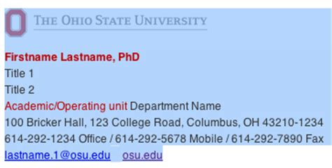 state email email signature usage ohio state brand guidelines