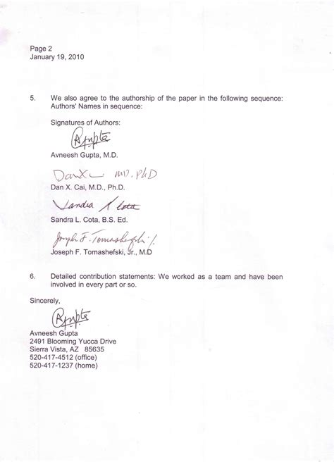 Business Letter Journal sle business letter with three signatures sle