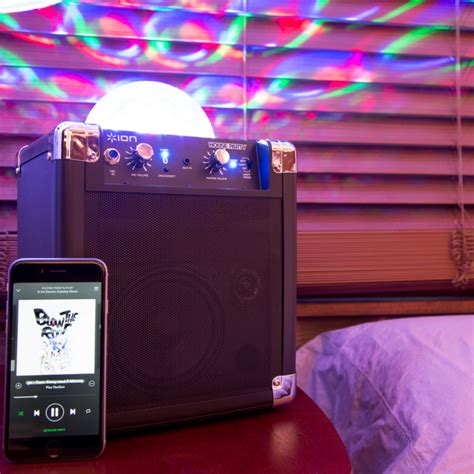 ion portable speaker system with lights ion audio house portable speaker system with lights
