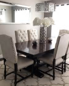 How To Decorate A Dining Room Table these pin tuft chairs are really good for the dining room