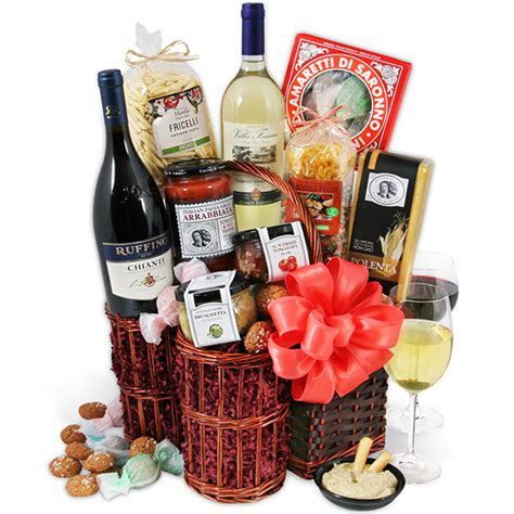 dinner gifts italian dinner for two by gourmetgiftbaskets com