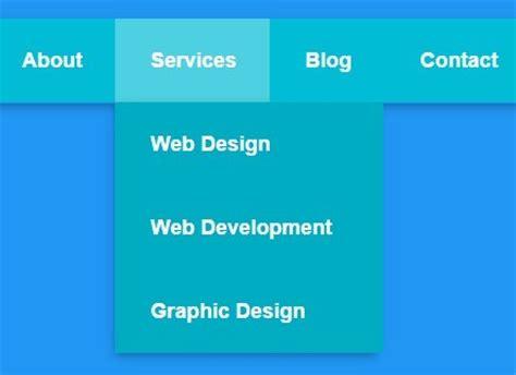 html design li simple clean pure css3 dropdown menu css script
