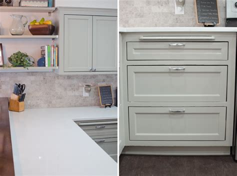Kitchen Drawers Instead Of Cabinets Remodeled Kitchen Using Original Cabinets With Diy Custom Doors Hometalk