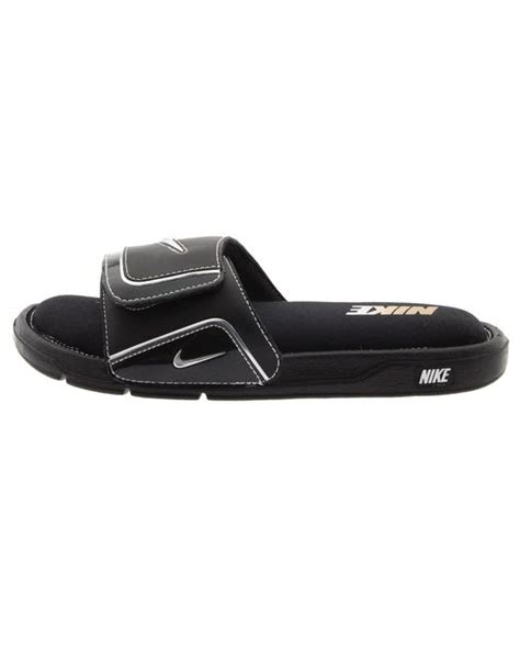 nike comfort slide 2 mens nike comfort slide 2 in black for men lyst
