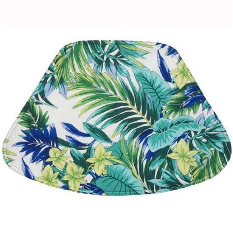 pattern for leaf shaped placemats blue and green palm leaf tropical wedge shaped placemat