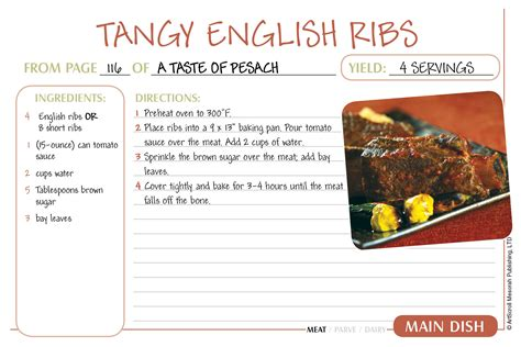 free printable easy recipes free passover recipe cards download the official