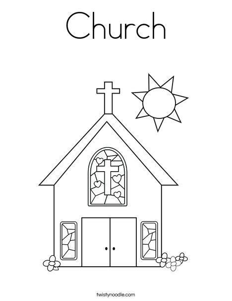 best photos of church template to print church cut out church coloring page twisty noodle