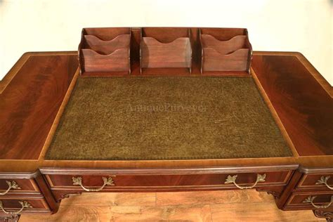 Leather Top Chippendale Writing Desk With Claw Feet