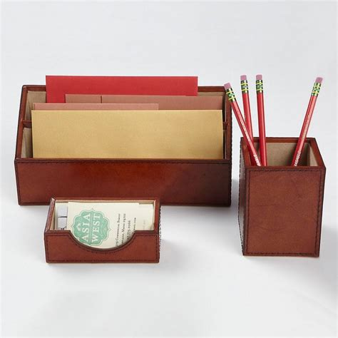 desk sets for her leather desk accessories set the company store