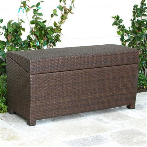 outdoor wicker storage bench china gh st 46 wicker rattan storage box outdoor storage
