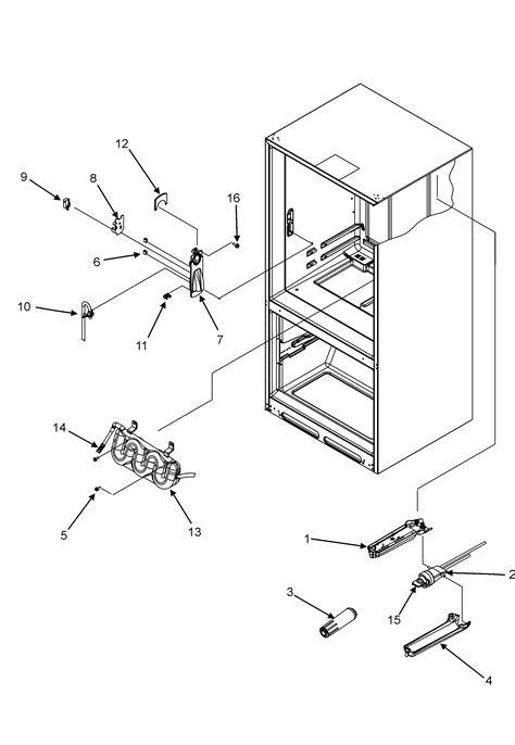 maytag refrigerator parts diagram size
