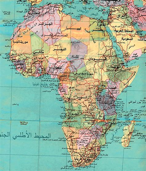 images of a africa map arabic map of africa size