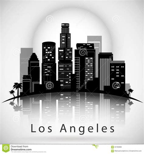 badezimmerdesign los angeles los angeles city skyline typographic design stock vector