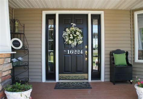 black front door color intended   color