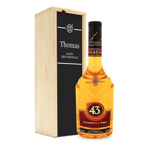 liquor licor 43 in personalized case yoursurprise com