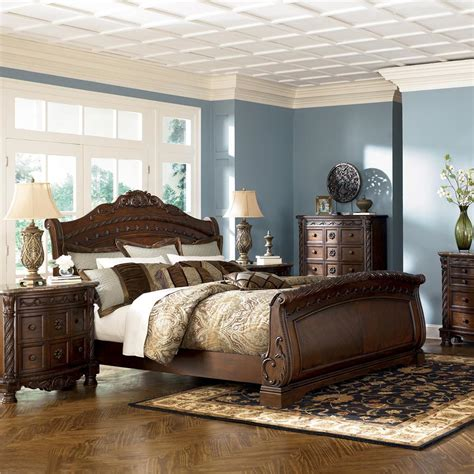 ashley sleigh bedroom set porter queen panel rails b697 96 ashley furniture