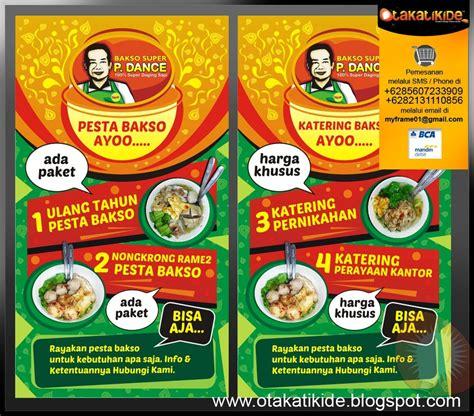jasa desain promosi rumah makan