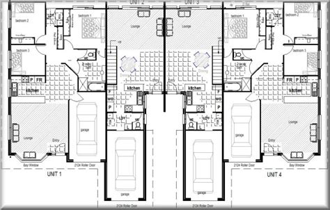 elite townhouse units 4 units complex kit home designs