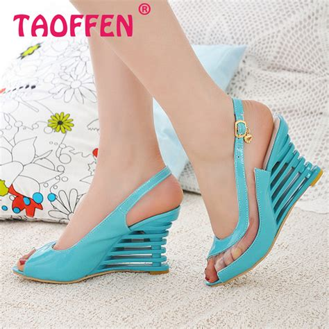New Promo Best Seller Flatshoes Gaga Hitam aliexpress buy high wedge heel sandals buckle style open toe transparent shoes s