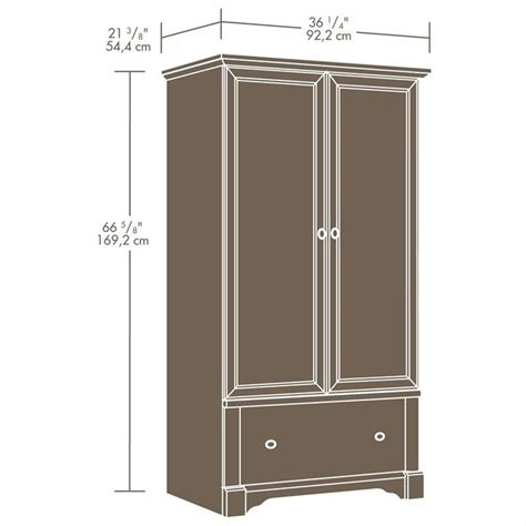 palladia wardrobe armoire select cherry finish sauder palladia cherry wardrobe armoire ebay