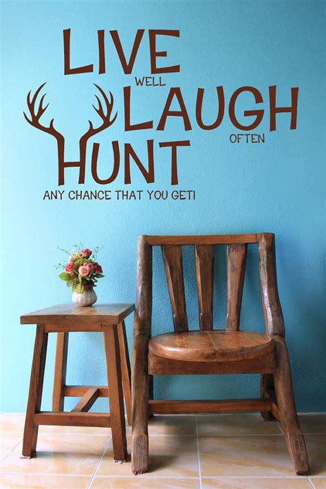 live laugh hunt elk deer antlers decor