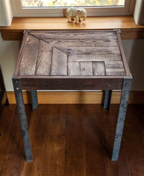 pallet end tables pallet metal side table pallet furniture diy