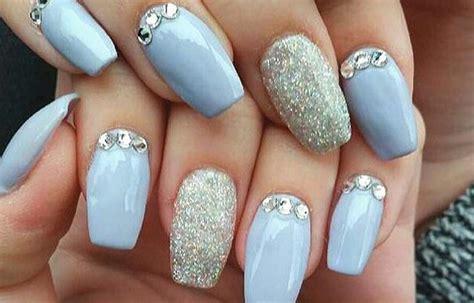 imagenes de uñas acrilicas con pedreria u 241 as decoradas con pedrer 237 a elegante y sencillo