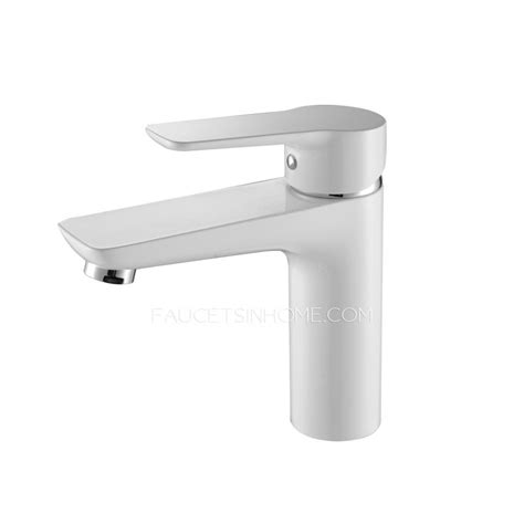 White Bathroom Sink Faucets by Modern White Porcelain Deck Mounted Bathroom Sink Faucet