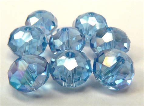 light blue crystal bracelet light blue crystal beads 6 loose blue crystal jewelry