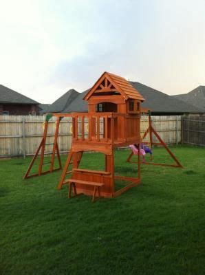 montpelier swing set backyard discovery montpelier cedar wooden swing set