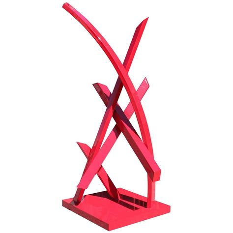 Fashion Home Interiors Houston monumental large red abstract outdoor sculpture at 1stdibs