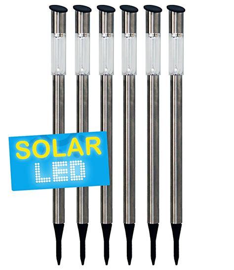 6er set led solarlampen edelstahl 7 solarleuchten bei