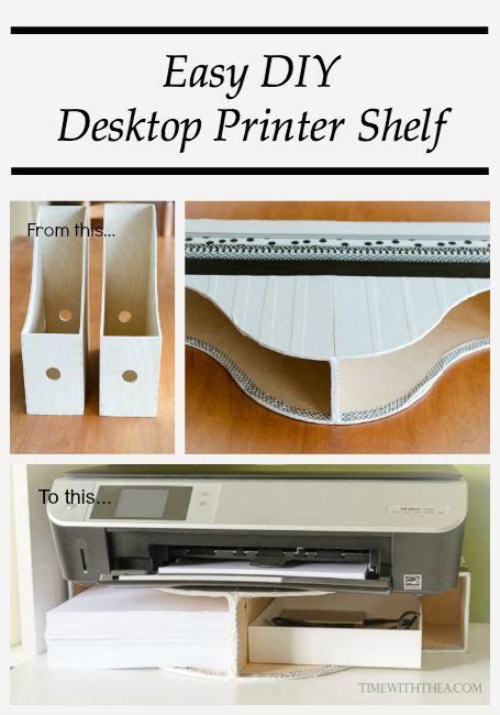 create a diy desktop printer shelf using ikea magazine file around the house page 8 do it and how