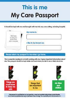 hospital passport template 1000 images about communication passports on