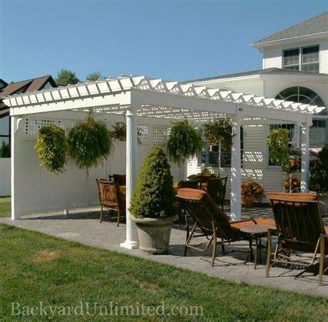 lattice pergola roof custom vinyl pergola with lattice roof privacy wall and