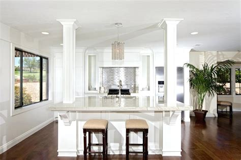 kitchen island columns 2018 kitchen island with columns to ceiling trendyexaminer