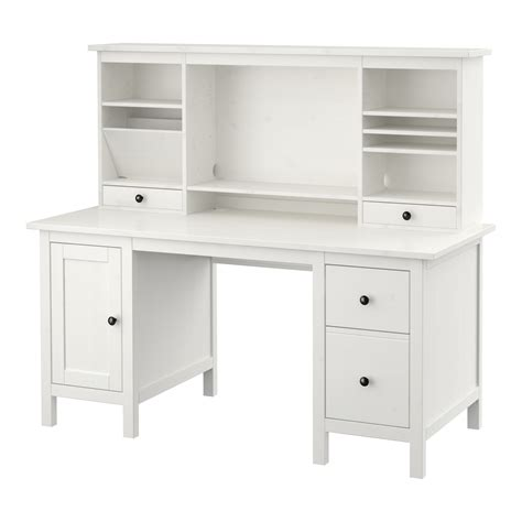 add on desk hutch hemnes desk with add on unit white stain 155x137 cm ikea