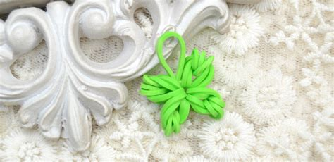 handprint rubber st four leaf clover rubber band charm